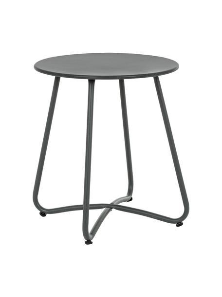 Tavolino da giardino in metallo Wissant, Acciaio verniciato a polvere, Grigio scuro, Ø 40 x Alt. 45 cm