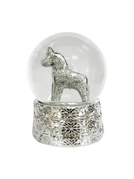 Kula śnieżna Serafina Horse, Odcienie srebrnego, Ø 7 x W 8 cm