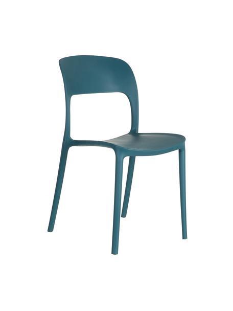 Sedia impilabile in plastica Valeria, Materiale sintetico (PP), Blu, Larg. 43 x Prof. 43 cm