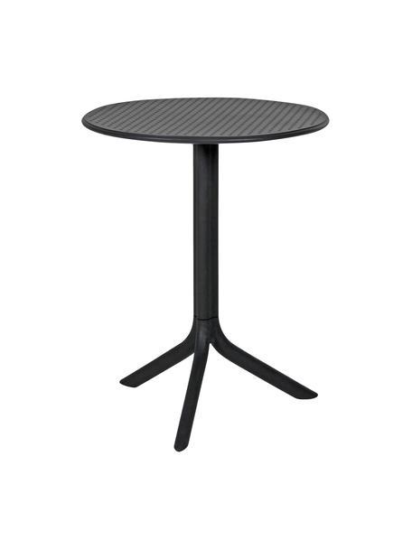 Tavolino rotondo regolabile in altezza Step, Plastica, fibra di vetro rinforzata, Antracite, opaco, Ø 60 x Alt. 75 cm