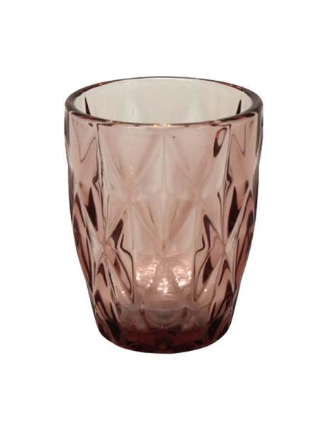 Szklanka do wody Lilania, 4 szt., Szkło, Lila, Ø 8 x W 10 cm