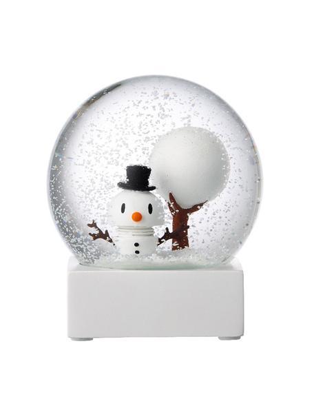 Schneekugel Snowman, Weiss, Transparent, Ø 10 x H 12 cm