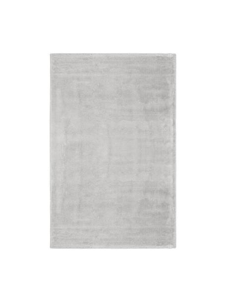 Tappeto in viscosa extra morbido Grace, Retro: 100% poliestere, Grigio, Larg. 117 x Lung. 180 cm (taglia S)