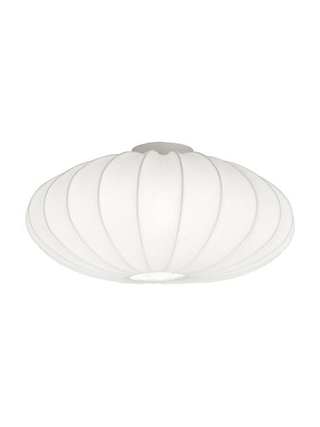 Plafondlamp Mamsell, Lampenkap: 60% polyester, 40% rayon, Frame: metaal, Wit, Ø 55 x H 28 cm