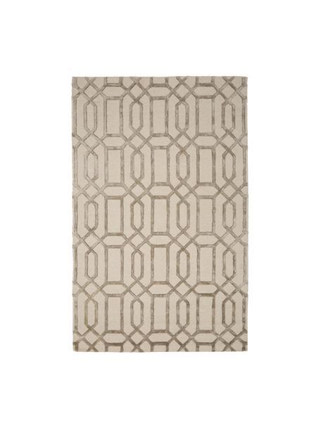 Tappeto taftato a mano in lana Vegas, Retro: cotone, Beige, crema, Larg.150 x Lung. 245 cm  (taglia M)