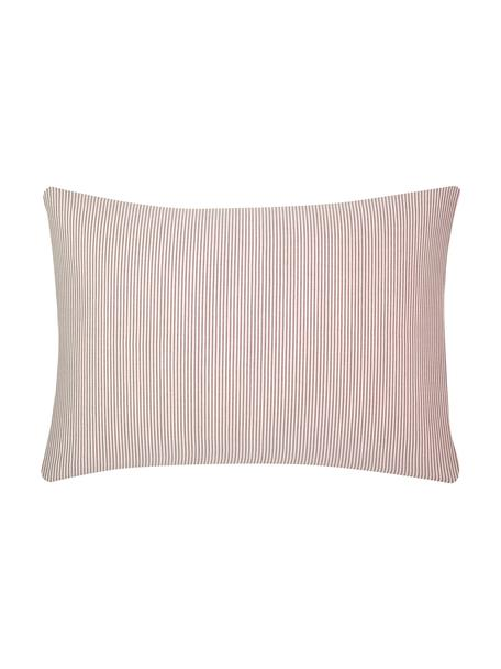 Funda de almohada de tejido renforcé Ellie, Blanco, rojo, An 50 x L 70 cm