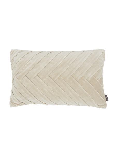 Kussen Folded met structuur-oppervlak, met vulling, Beige, 30 x 50 cm