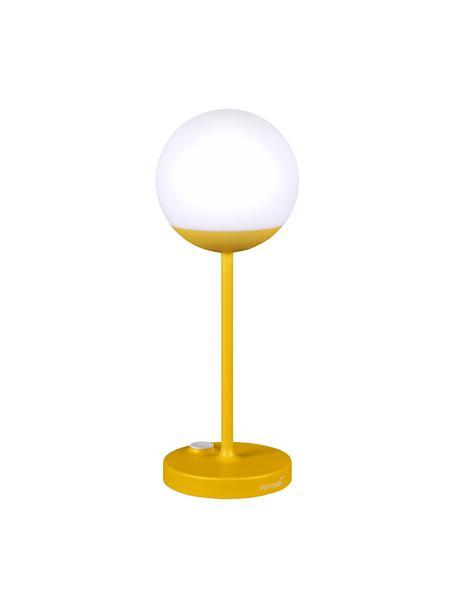 Mobile LED-Außenleuchte Mooon, Lampenschirm: Kunststoff, Gelb, Ø 15 x H 41 cm