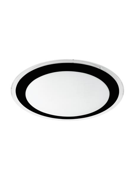 LED-plafondlamp Competa, Lampenkap: kunststof, Baldakijn: kunststof, Zwart, wit, Ø 34 x H 9 cm
