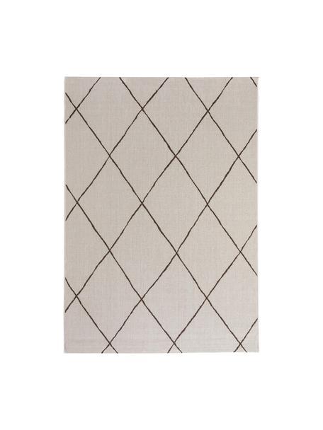 Alfombra de interior/exterior Metro Check, Polipropileno, Crema, An 80 x L 150 cm (Tamaño XS)