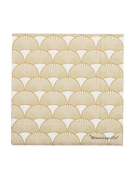 Tovagliolo di carta Sun 20 pz, Carta, Dorato , bianco, Larg. 33 x Lung. 33 cm