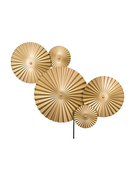 Applique di design con spina Omega, Lampada: metallo ottonato, Ottone, Larg. 70 x Alt. 55 cm
