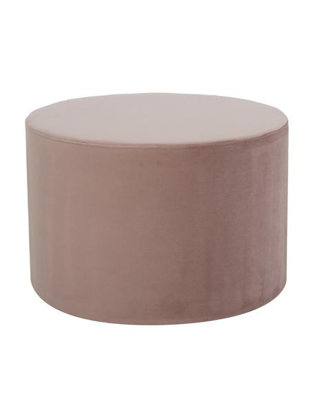 Puf de terciopelo Daisy, Tapizado: terciopelo (poliéster) Al, Estructura: tablero de fibras de dens, Rosa, Ø 54 x Al 38 cm