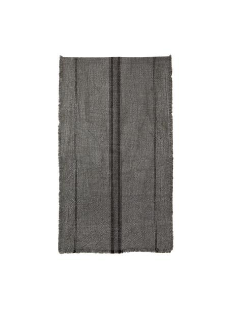 Bieżnik z bawełny Ripo, 100% bawełna, Ciemny szary, melanżowy, czarny, S 40 x D 140 cm