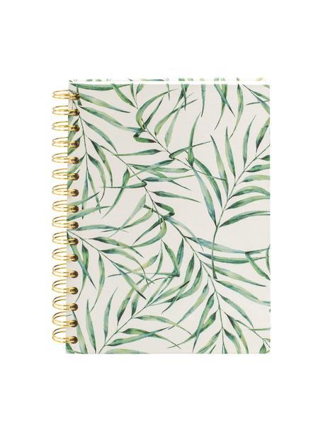 Cuaderno Leaf, Blanco, verde, An 16 x Al 21 cm