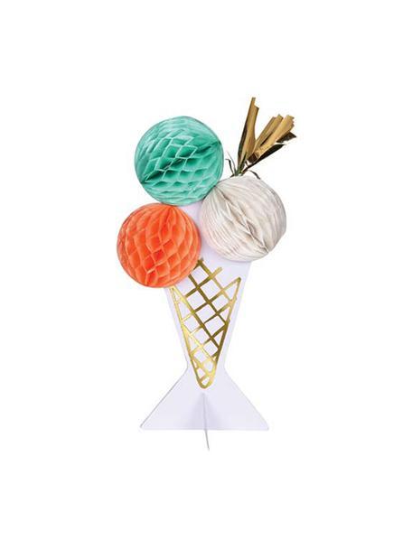 Biglietto d'auguri Ice Cream, Carta, Rosa, bianco, verde menta, dorato, Lung. 13 x Larg. 19 cm