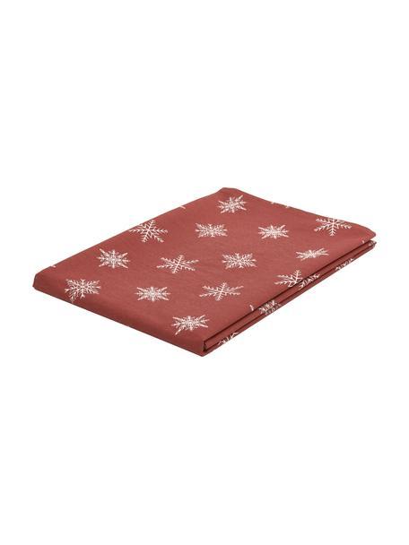 Tischdecke Snow, 100% Baumwolle, aus nachhaltigem Baumwollanbau, Rot, Weiß, 145 x 200 cm