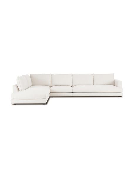 XL-Ecksofa Tribeca in Beige, Bezug: Polyester Der hochwertige, Gestell: Massives Kiefernholz, Webstoff Beige, B 405 x T 228 cm