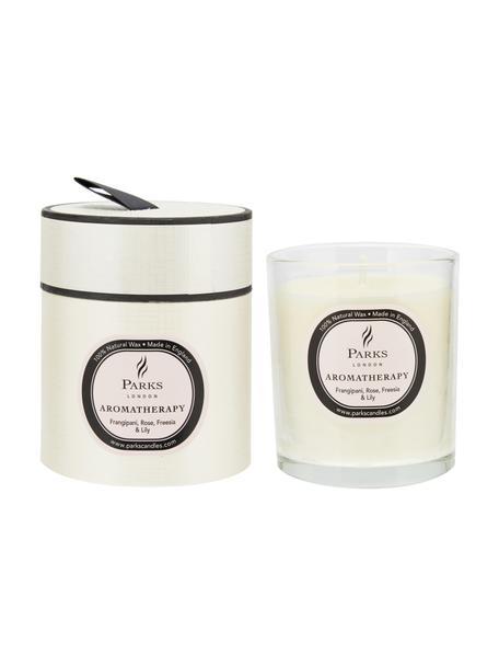 Duftkerze Aromatherapy (Rose, Fresie & Lilie), Behälter: Glas, Transparent, Weiss, Rosé, Ø 8 x H 9 cm