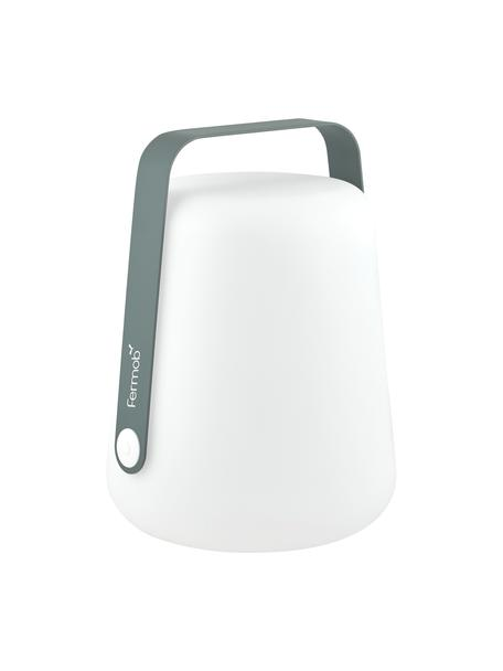 Mobiele outdoor LED lamp Balad, Lampenkap: polyethyleen, speciaal be, Grijs, Ø 28 x H 38 cm