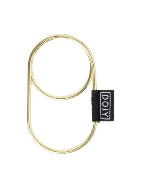 Schlüsselanhänger Ring, Stahl, beschichtet, Messingfarben, 6 x 11 cm