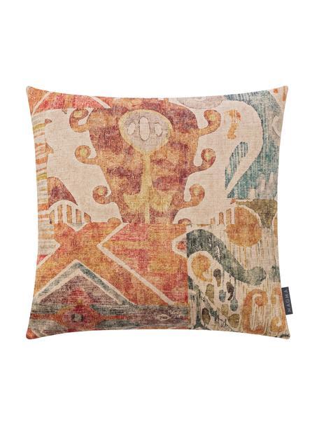 Poszewka na poduszkę z aksamitu Cosima, 100% aksamit poliestrowy, Pomarańczowy, wielobarwny, S 40 x D 40 cm