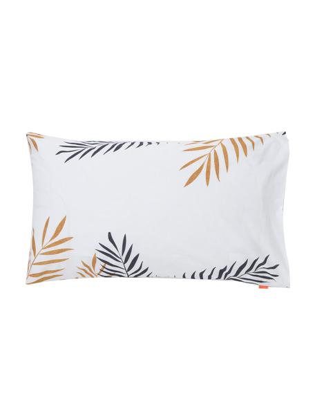 Fundas de almohada Foliage, 2uds., Algodón, Blanco, negro, mostaza, An 50 x L 75 cm