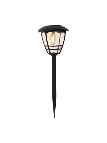 Lámpara solar para exteriores Felix, Pantalla: acrílico, Estructura: plástico, Negro, Ø 14 x Al 45 cm