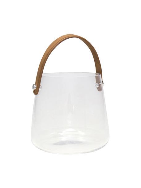 Windlicht Icca, Windlicht: glas, Bruin, transaparant, Ø 16 x H 15 cm