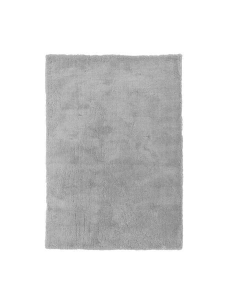 Tappeto peloso morbido grigio Leighton, Retro: 70% poliestere, 30% coton, Grigio, Larg. 200 x Lung. 300 cm (taglia L)