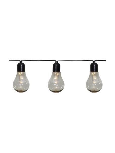 LED lichtslinger Glow, 505 cm, Lampions: kunststof, Transparant, zwart, L 505 cm