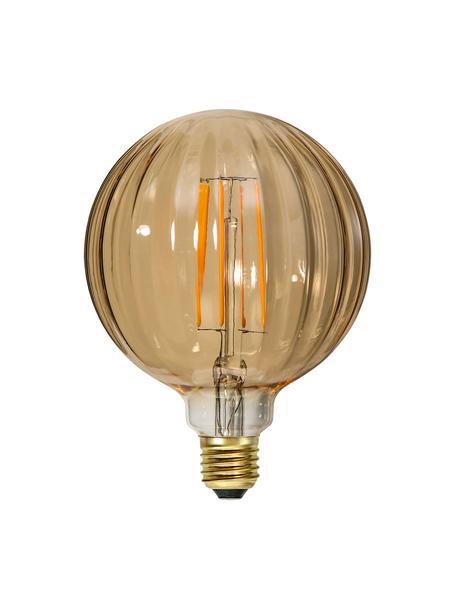 E27 peertje, 3 watt, warmwit, 1 stuk, Peertje: glas, Fitting: nikkel, Amberkleurig, Ø 13 x H 17 cm
