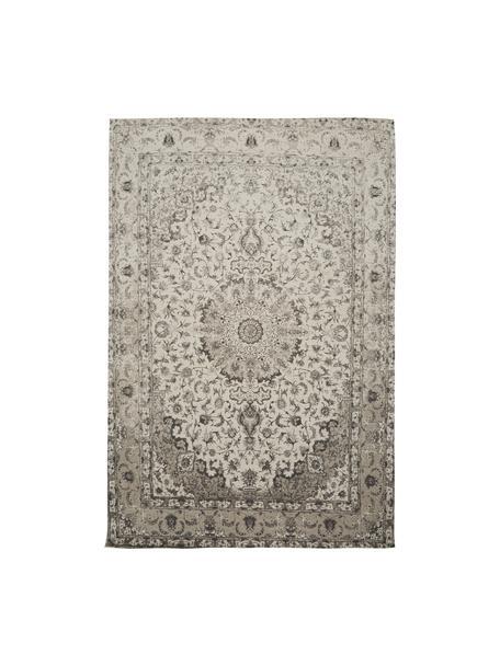 Tappeto in ciniglia tessuto a mano Sofia, Retro: 100% cotone, Beige, grigio, Larg. 200 x Lung. 300 cm (taglia L)