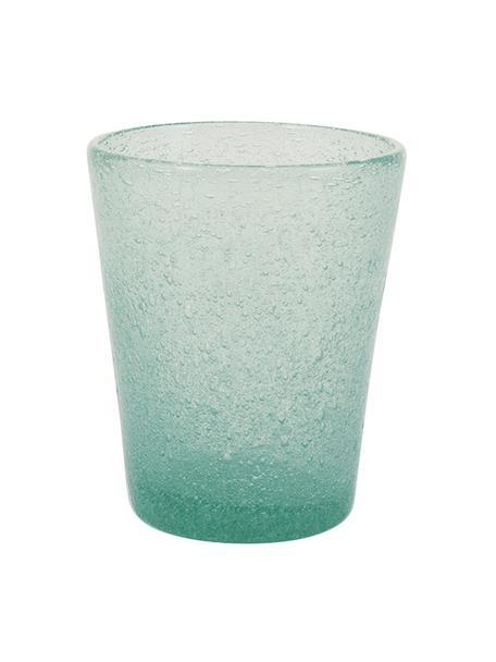 Szklanka do wody ze szkła dmuchanego Cancun, 6 szt., Szkło dmuchane, Zielony, Ø 9 x W 10 cm