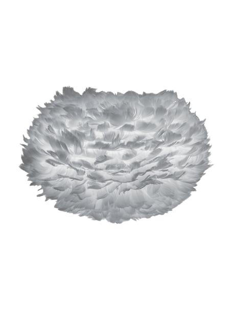 Paralume in piume Eos, Piume d'oca, acciaio, Grigio chiaro, Ø 45 x Alt. 30 cm