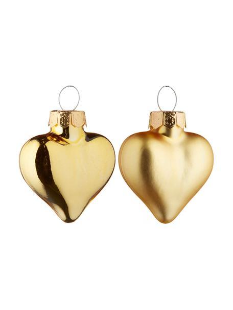 Komplet mini ozdób choinkowych Alabaster, 12 elem., Odcienie złotego, S 4 x W 5 cm