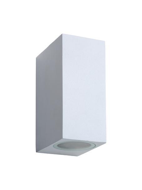 Außenwandleuchte Zora in Weiß, Lampenschirm: Aluminium, beschichtet, Weiß, 7 x 15 cm