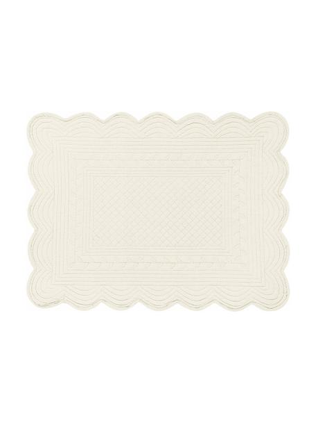 Manteles individuales de algodón Boutis, 6uds., Algodón, Marfil, An 34 x L 48 cm