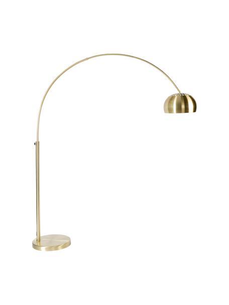 Lámpara arco Metal Bow, Pantalla: metal, latón, Estructura: metal, latón, Cable: plástico, Latón, An 170 x Al 205 cm
