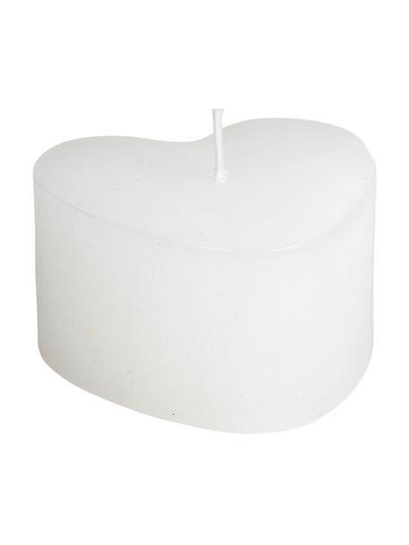Kerze Heart, Paraffinwachs, Weiß, 8 x 6 cm