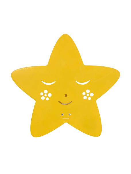 Applique stella in metallo verniciato Star, Metallo verniciato a polvere, Giallo, Larg. 30 x Alt. 29 cm