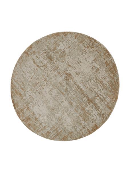 Alfombra redonda Cordoba, estilo vintage, Parte superior: 70%acrílico, 30%viscosa, Reverso: poliéster, Tonos beige, Ø 150 cm (Tamaño M)