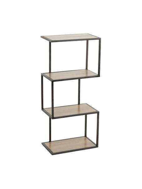 Estantería Stacky, Estructura: metal, Estantes: madera, Beige, negro, An 29 x Al 67 cm