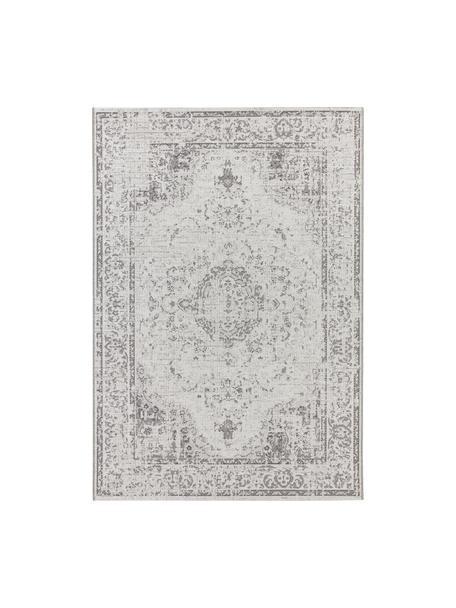 Tappeto vintage da interno-esterno Cenon, 100% polipropilene, Crema, grigio, Larg. 115 x Lung. 170 cm (taglia S)
