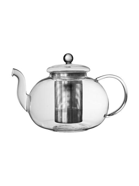 Teekanne Argyle mit Teesieb und Deckel, 1.4 L, Kanne: Glas, Sieb: Edelstahl, Transparent, Silberfarben, 1.4 L