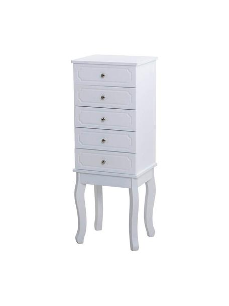 Cómoda Jeweler, Blanco, An 34 x Al 92 cm