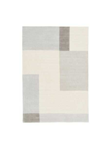 Tappeto in lana taftato a mano Keith, Retro: cotone, Beige, grigio, Larg.160 x Lung. 230 cm  (taglia M)