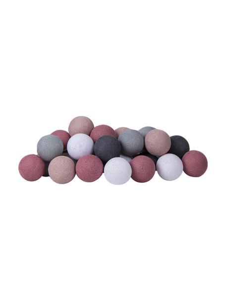 Guirnalda de luces LED Colorain, Linternas: poliéster, Cable: plástico, Tonos lilas y grises, blanco, L 264 cm