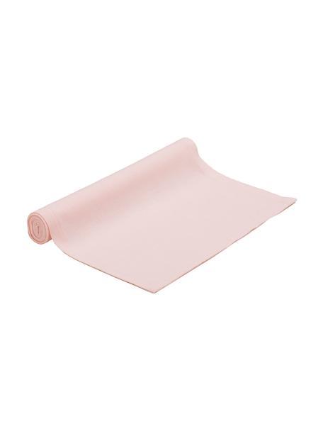 Runner in misto cotone rosa Riva, 55% cotone, 45% poliestere, Rosa, Larg. 40 x Lung. 150 cm