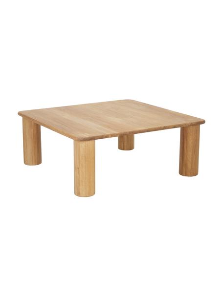 Mesa de centro de madera Didi, Madera de roble maciza aceitada, Marrón, An 90 x Al 35 cm